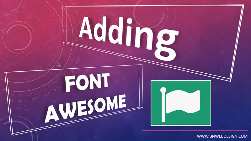 Add Font Awesome Text Icon